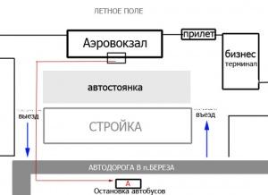 Вот схема. должны.  Будьте внимательны.  Около аэропорта находится остановка - это обман.  Туда маршрутки заезжать.